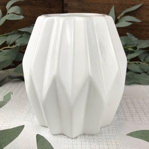 """5"""" Ceramic Origami Vase Planter Minimalist"""